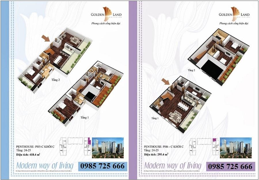 Thiết kế căn hộ a11 dự án Golden Land 275 Nguyễn Trãi