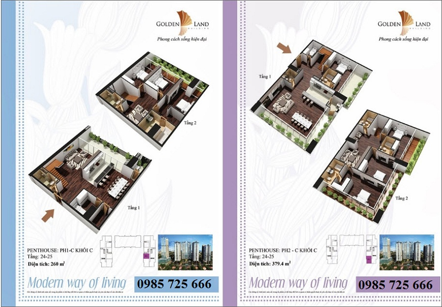 Thiết kế căn hộ a9 dự án Golden Land 275 Nguyễn Trãi