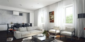 Phong cách thiết kế nội thất phòng khách 2017