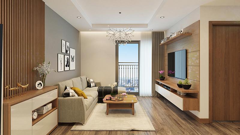 Phòng khách căn hộ dự án Hateco Apollo Xuân Phương