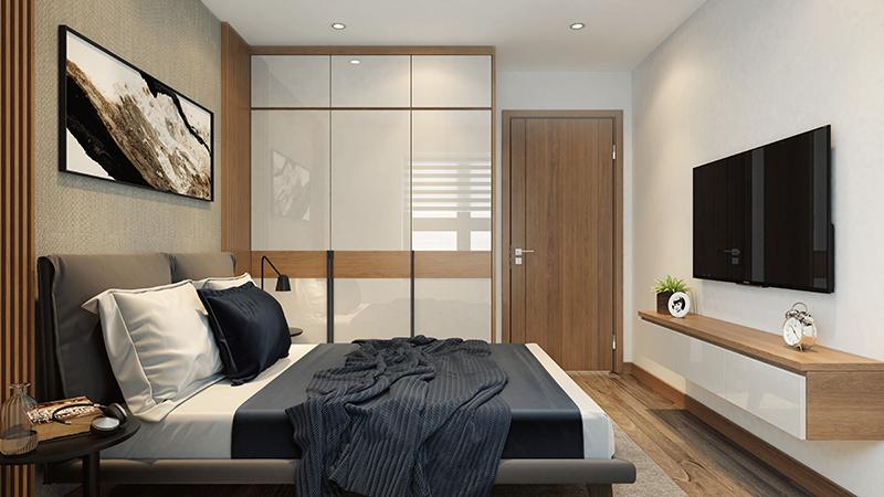 Phòng ngủ căn hộ dự án Hateco Apollo Xuân Phương