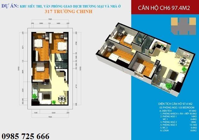 Thiết kế căn hộ Hamilton Complex 317 Trường Chinh