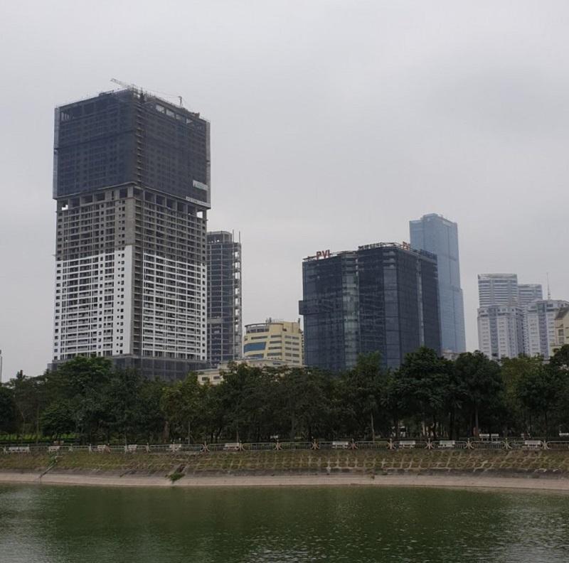 Tiến độ thi công 2 dự án Golden Park Tower số 2 Phạm Văn Bạch