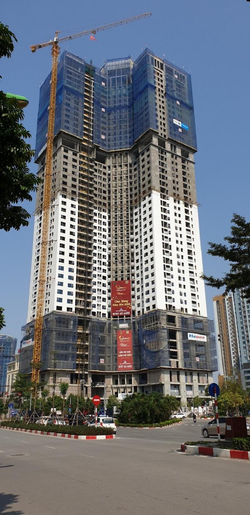 Tiến độ thi công 1 dự án Golden Park Tower số 2 Phạm Văn Bạch