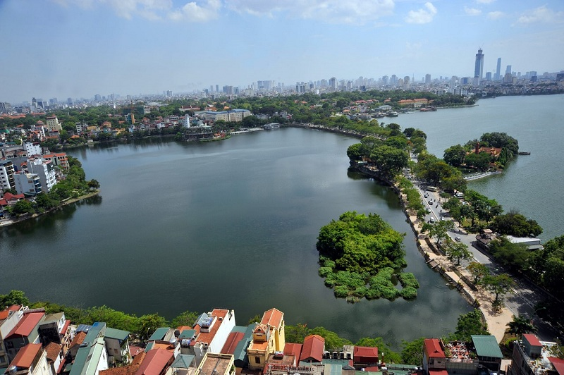 Ảnh view hồ Tây từ chung cư Sun Grand City 125 Văn Cao