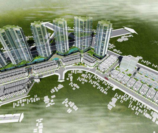 Phối cảnh phân khu Athen- Athena Fulland Nguyễn Xiển