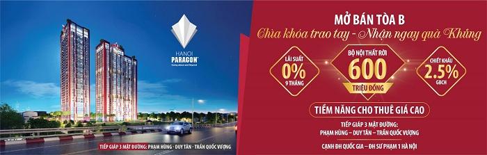 Chính sách bán hàng dự án Paragon Tower Phạm Hùng