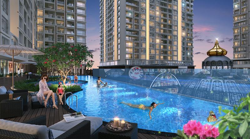 Bể bơi Hinode City 210 Minh Khai