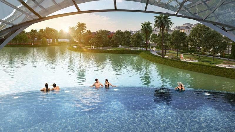 Bể bơi dự án Vinhomes Green Villas Tây Mỗ - Đại Mỗ