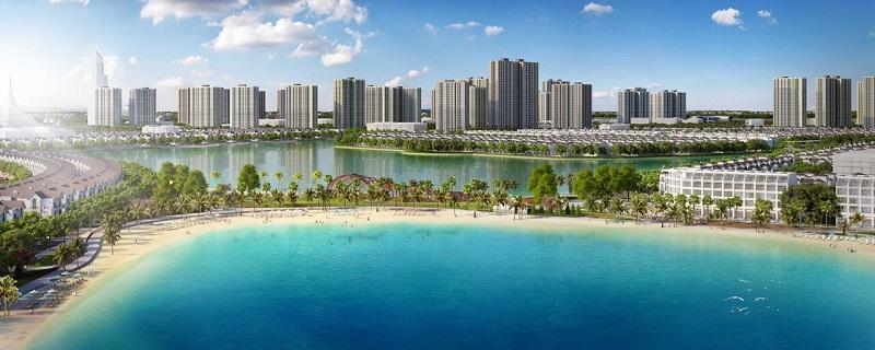 Biển hồ nhân tạo Vincity Ocean Park Gia Lâm