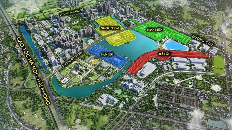 Các phân khu thấp tầng dự án Vincity Ocean Park Gia Lâm