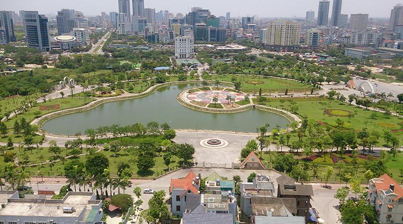 Công viên Cầu Giấy gần Constrexim Complex