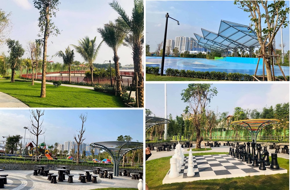 Công vien trung tâm 2 dự án Vinhomes Smart City Tây Mỗ - Đại Mỗ