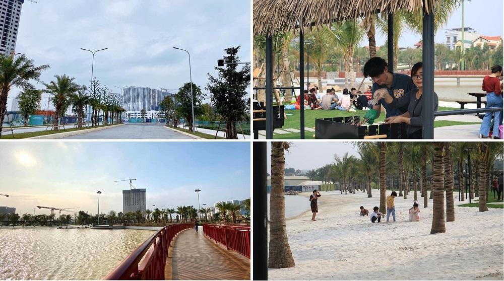 Công vien trung tâm 1 dự án Vinhomes Smart City Tây Mỗ - Đại Mỗ