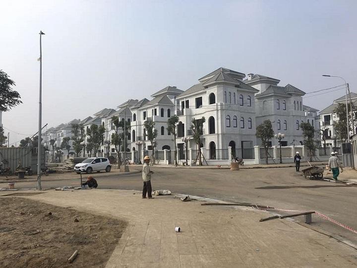 Hình ảnh thực tế 98 lô biệt thự đơn lập siêu cao cấp Vinhomes Green Villas Tây Mỗ 3
