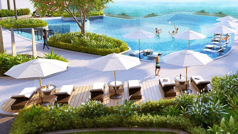 Khu tắm nắng Vinhomes Skylake Phạm Hùng