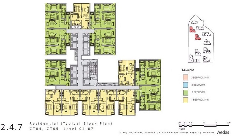 Mặt bằng CT4-5 dự án Vinhomes Gallery 148 Giảng Võ