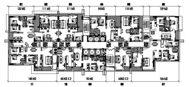 Mặt bằng căn hộ Videc Galaxy Tower Nguyễn Xiển (Dự kiến)