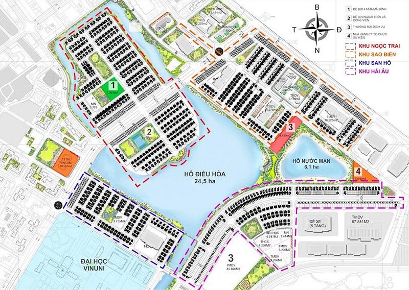 Mặt bằng tổng thể thấp tầng dự án Vincity Ocean Park Gia Lâm