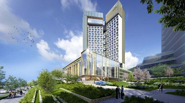 Phối cảnh từ góc phải Double Tree by Hilton Hạ Long Hotel & Condotel