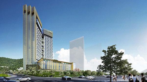 Phối cảnh từ góc trái Double Tree by Hilton Hạ Long Hotel & Condotel