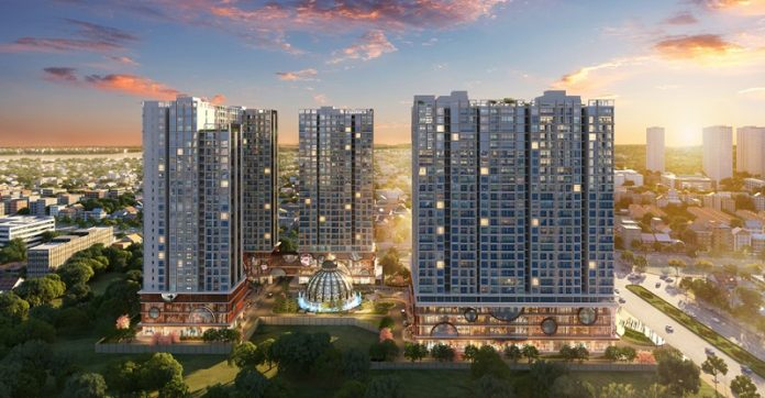 Phối cảnh Hinode City 210 Minh Khai