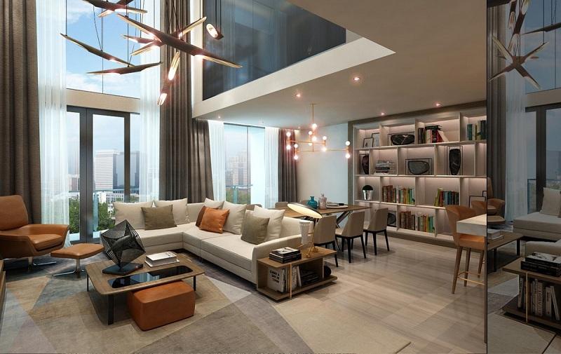 Phòng khách Sun Grand City 31 Láng Hạ
