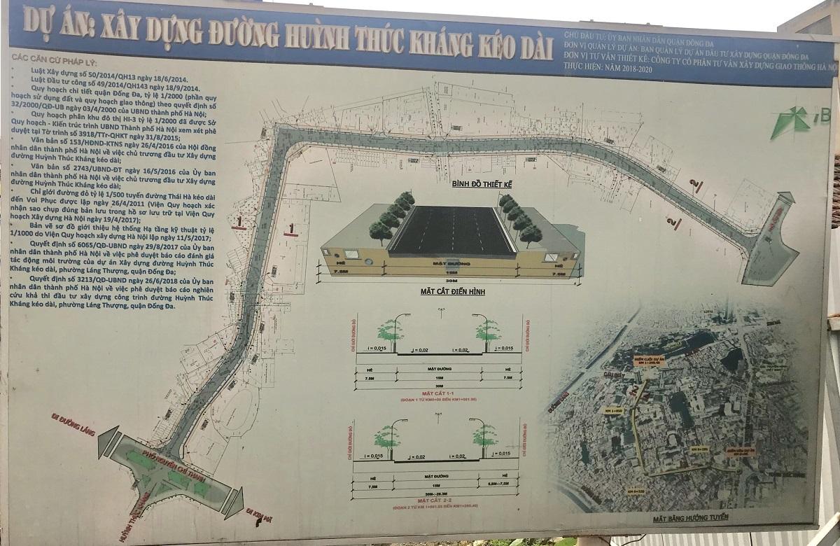 Quy hoạch đường Huỳnh Thúc Kháng kéo dài qua dự án chung cư Hateco Laroma Láng Thượng
