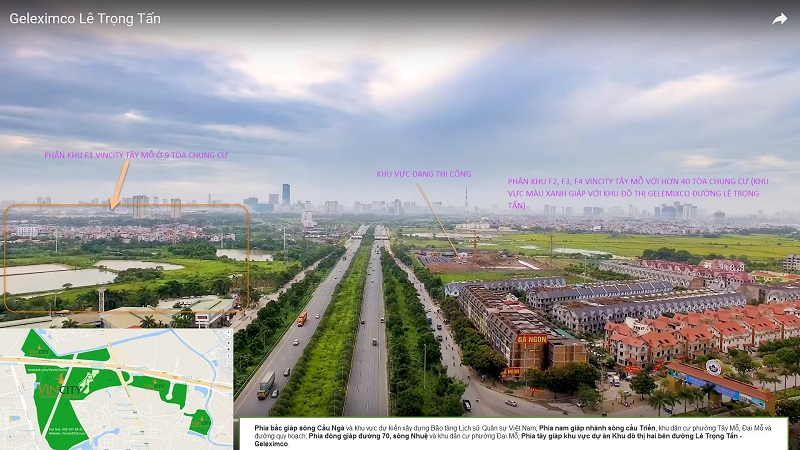 Đại lộ Thăng Long qua dự án Vincity Sportia Tây Mỗ - Đại Mỗ