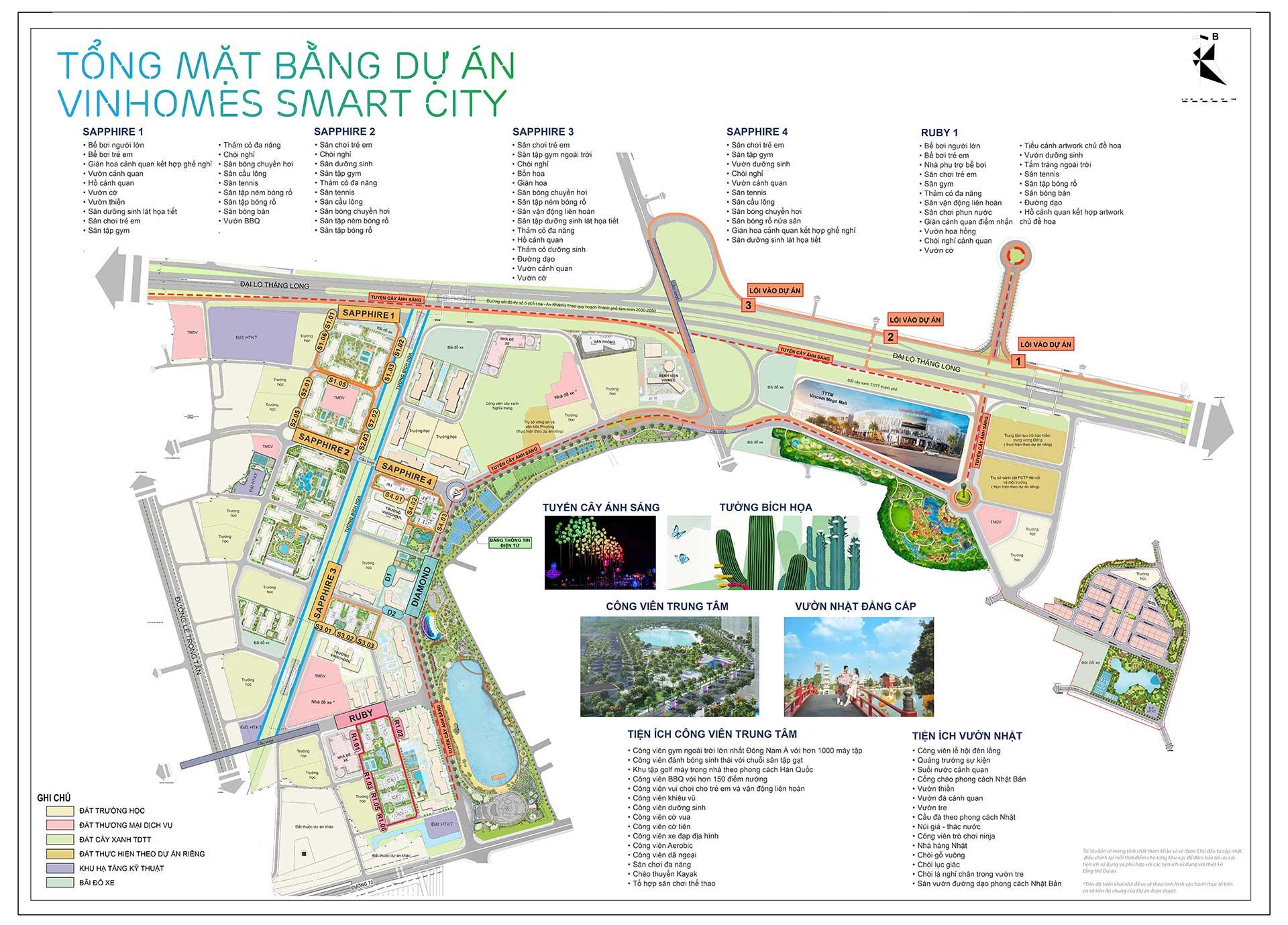 Quy mô dự án Vinhomes Smart City