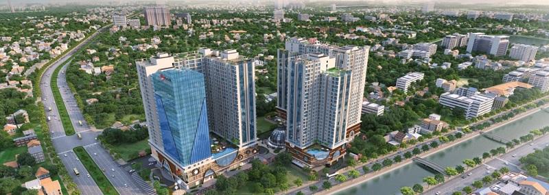 Quy mô Hinode City 210 Minh Khai