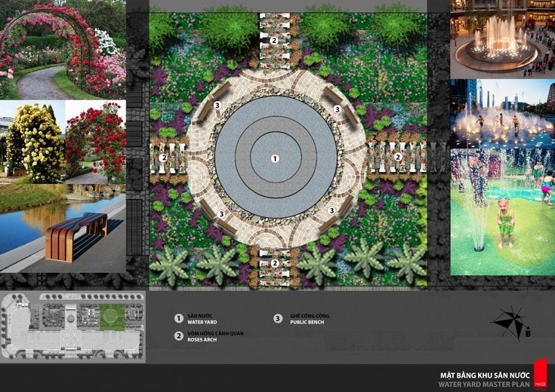 Sân nước dự án Athena Fulland Nguyễn Xiển