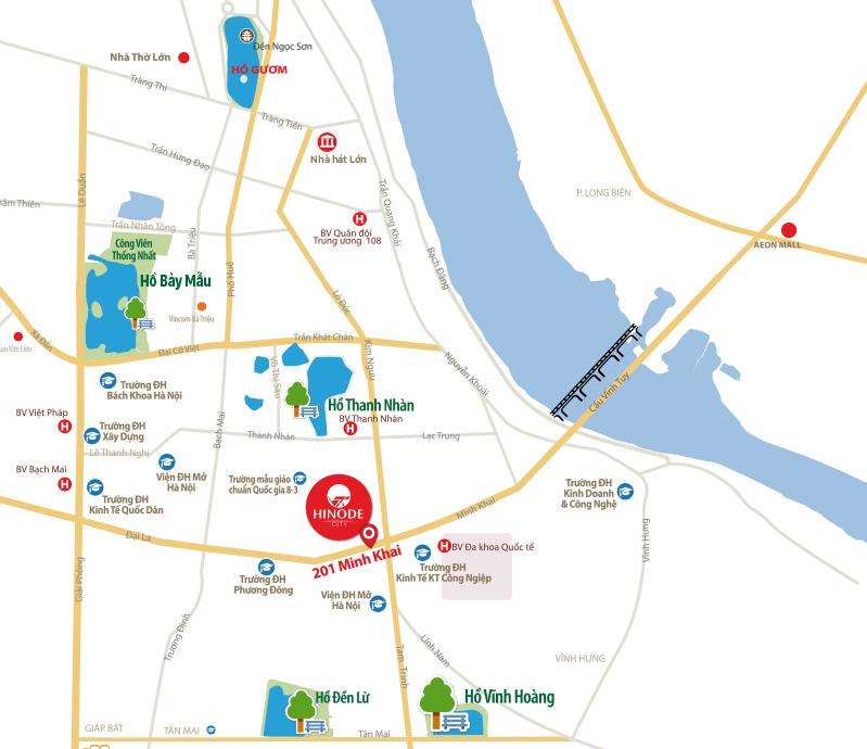 Vị trí Hinode City 210 Minh Khai