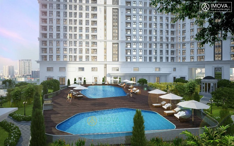 Bể bơi Chung cư The Emerald CT8 Mễ Trì