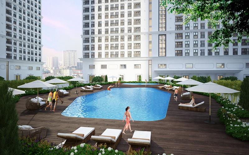 Bể bơi trẻ em Chung cư The Emerald CT8 Mễ Trì