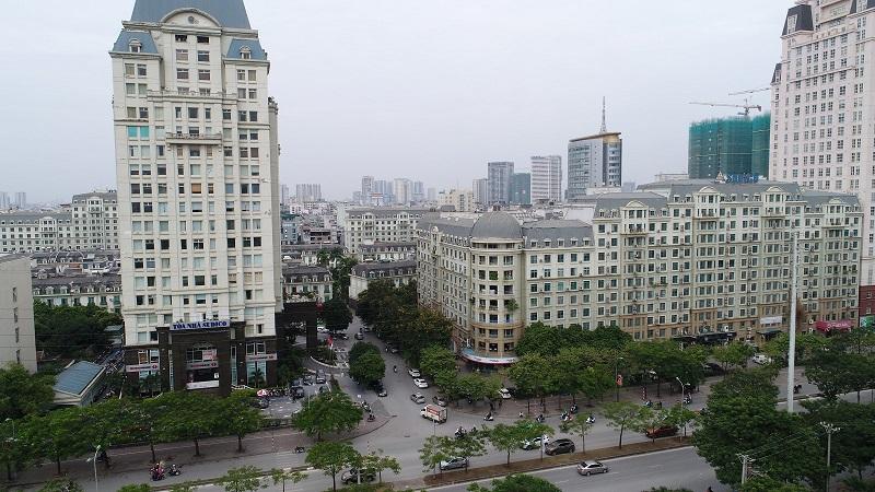 View dự án Chung cư The Sun Mễ Trì - hướng Tây Bắc