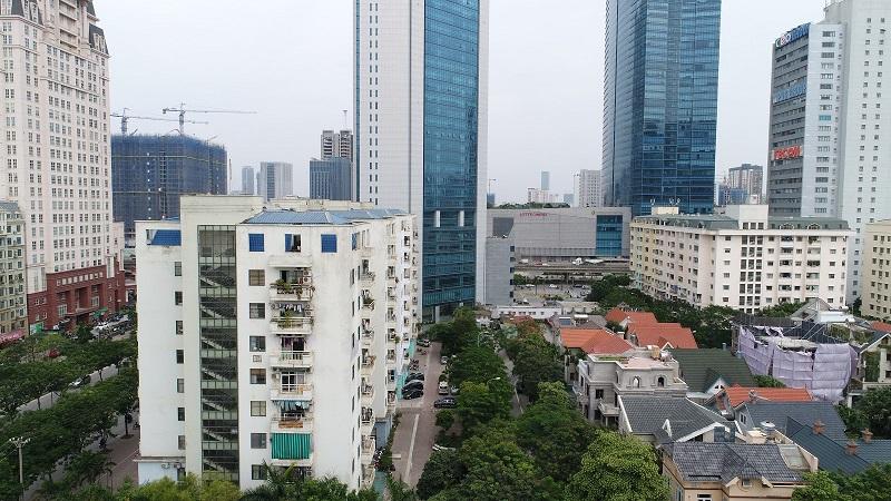 View dự án Chung cư The Sun Mễ Trì - hướng Đông Bắc