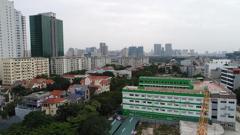 View dự án Chung cư The Sun Mễ Trì - hướng Đông Nam