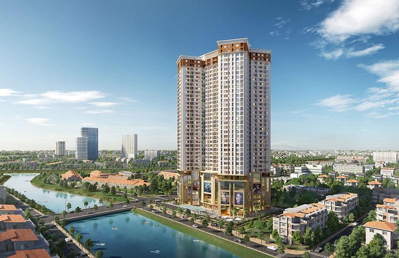 Phối cảnh chung cư Samsora Premier 105 Chu Văn An - Hà Đông