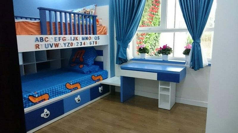 Phòng ngủ nhỏ căn hộ mẫu Star Tower 283 Khương Trung