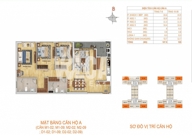 Thiết kế căn hộ loại a chung cư 6th Element Bắc Hà C51 Bộ Công An