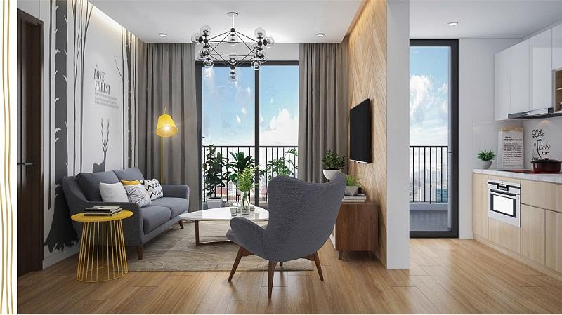 Thiết kế phòng khách chung cư 6th Element Bắc Hà C51 Bộ Công An