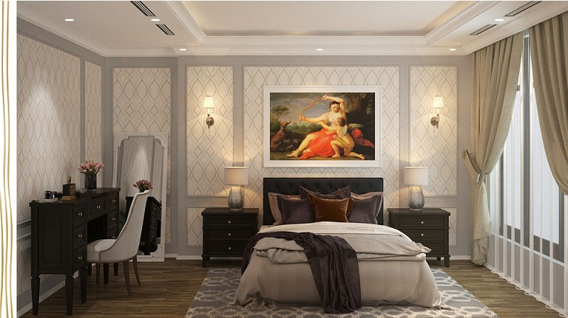 Thiết kế phòng ngủ Master chung cư 6th Element Bắc Hà C51 Bộ Công An