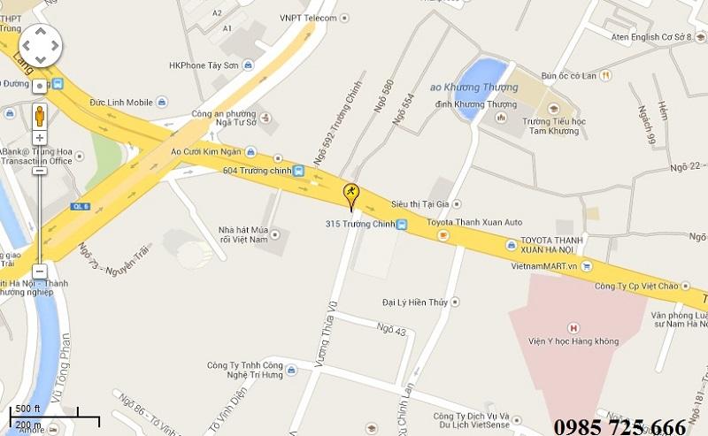 Vị trí chung cư Hamilton Complex 317 Trường Chinh