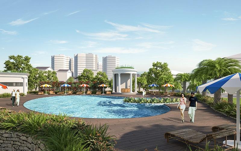 Bể bơi chung cư Iris Garden Mỹ Đình