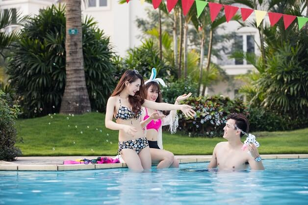 Bể bơi liền kề biệt thự The Eden Rose Nguyễn Xiển