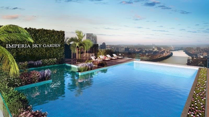 Bể bơi ngoài trời Imperia Sky Garden 423 Minh Khai