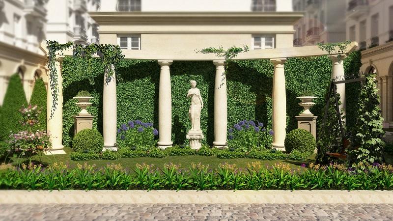Cổng chào Grandeur Palace 138 Giảng Võ