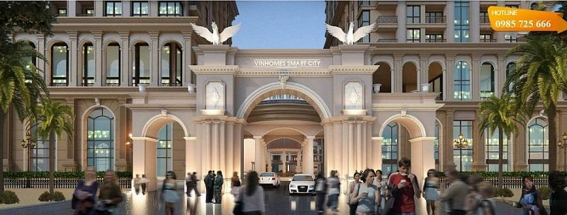 Cổng chào chung cư Vinhomes Smart City Nguyễn Trãi