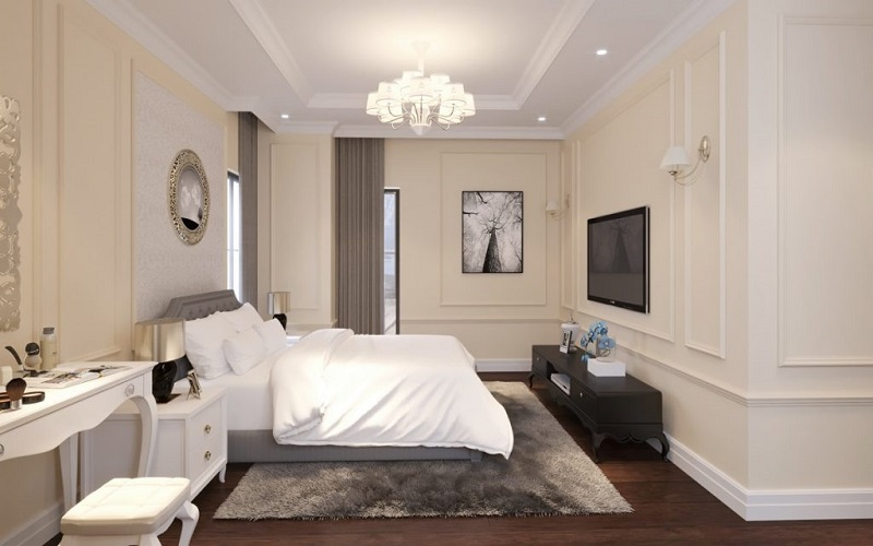 Nội thất phòng ngủ chung cư Iris Garden Mỹ Đình